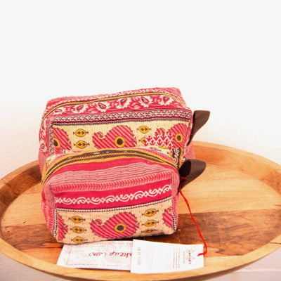 Mota Makeup Bag - Pink Vines