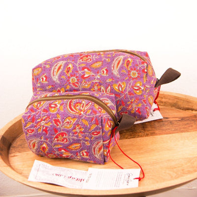 Mota Makeup Bag - Plum Garden