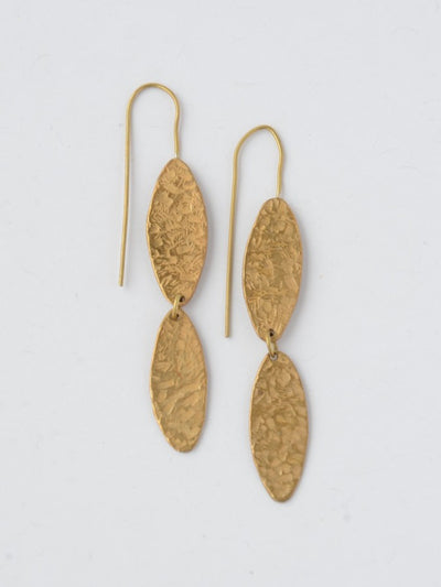 Luz Brass Dangle Earrings