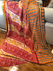 Stitches of Hope Kantha Quilt - Autumn Glow
