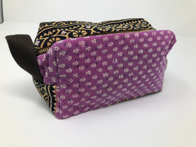 Mota Makeup Bag - Pink and Black