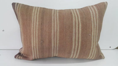 Just Peachy Kilim Stripe Pillow