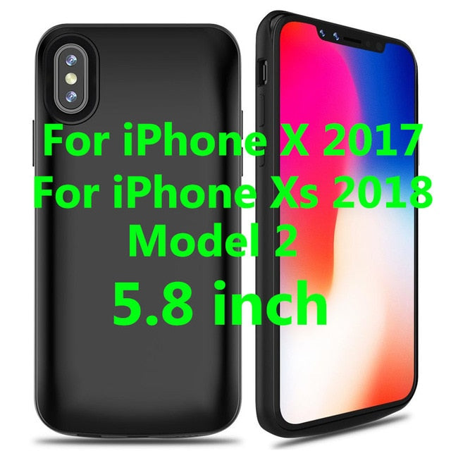 separation shoes 0683a 2b73e 6000mAh For iPhone X / For iphone Xs Xr XS Max Battery Case External  Charger Pack Power Bank Backup Shell Support wired headset