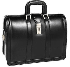 "Leather Bag 17"" Litigator Laptop Briefcase - K. GRANT PUBLISHING  - 1"