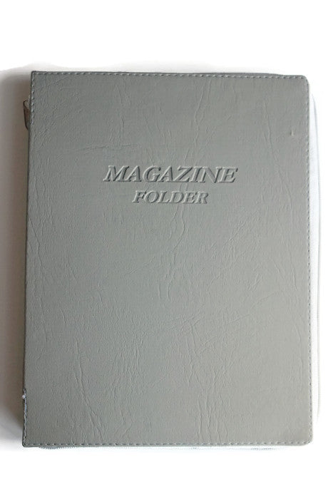 Magazine Folder with zipper in Light Grey - K. GRANT PUBLISHING Jehovah's witness jw gift products