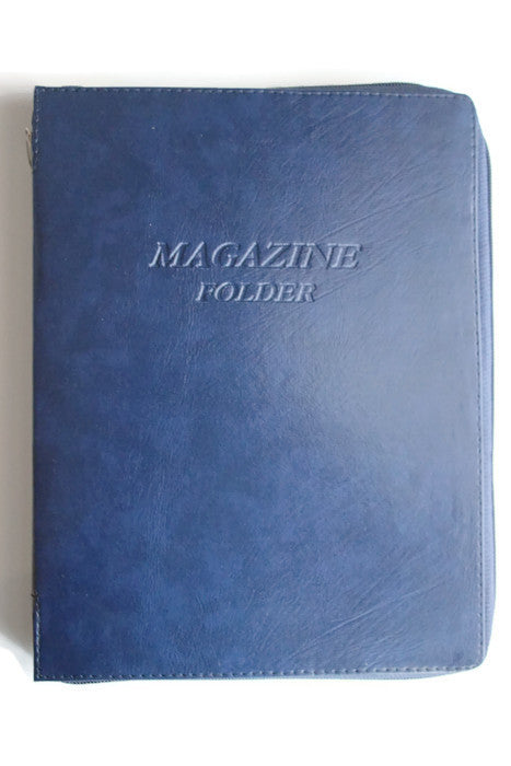 Magazine Folder with Zipper in Dark Blue - K. GRANT PUBLISHING Jehovah's witness jw gift products