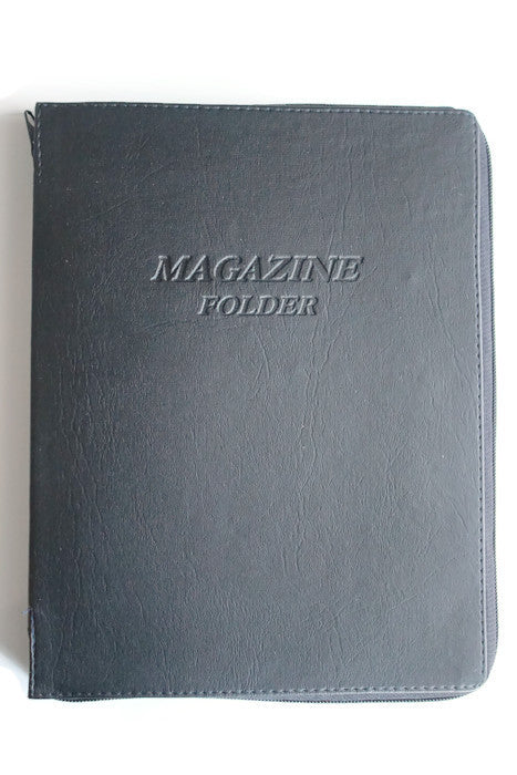 Magazine Folder with zipper in Black - K. GRANT PUBLISHING Jehovah's witness jw gift products