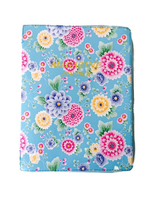 Magazine Folder Blue Dahlia - K. GRANT PUBLISHING Jehovah's witness jw gift products