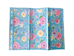Blue Bloom Flowers 6 pocket Tract Folder - K. GRANT PUBLISHING Jehovah's witness jw gift products