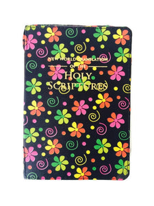 Bible Cover:  Black Flowers Spiral - K. GRANT PUBLISHING Jehovah's witness jw gift products