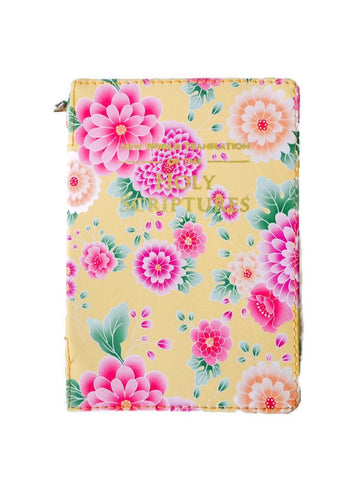 Bible Cover:  Yellow Dahlia