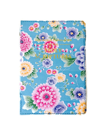 Bible Cover:  Light Blue Flowers