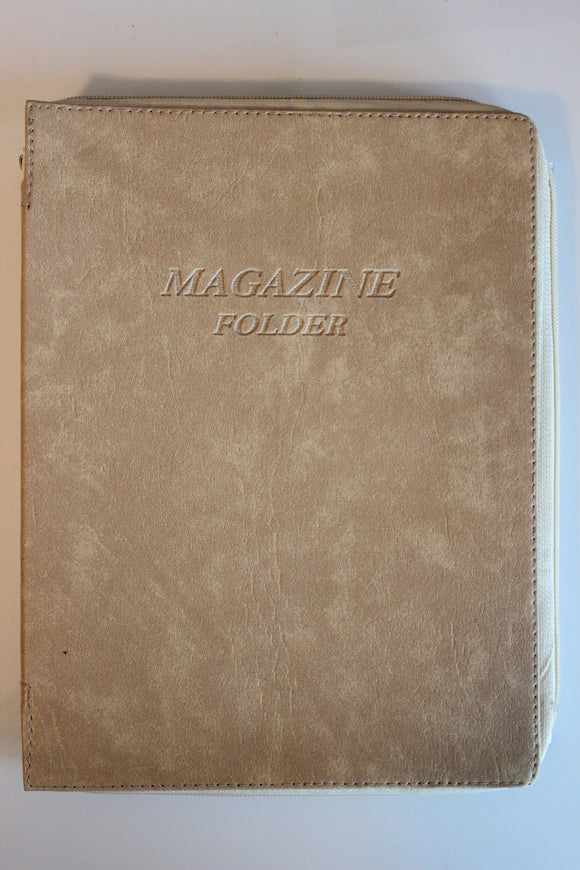 Magazine Folder in Beige - K. GRANT PUBLISHING Jehovah's witness jw gift products