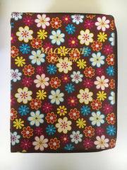 Magazine folder with zipper in Brown Floral - K. GRANT PUBLISHING Jehovah's witness jw gift products