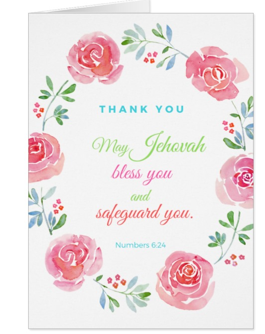 Thank you Card Numbers 6:24 - K. GRANT PUBLISHING