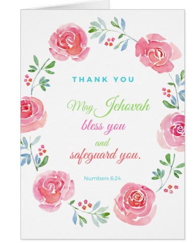 Thank you Card Numbers 6:24