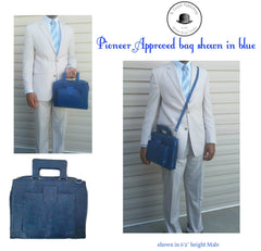 Pioneer Approved Service Bag Croc Blue - K. GRANT PUBLISHING Jehovah's witness jw gift products