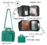 Pioneer Approved Service Bag Croc Brown - K. GRANT PUBLISHING Jehovah's witness jw gift products