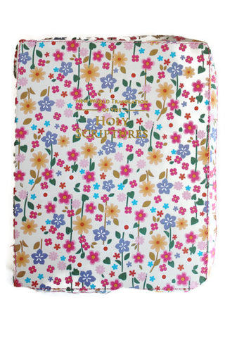 Large Bible Cover:  Mix Flowers