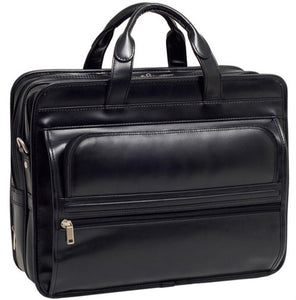 Leather Double Compartment Laptop Bag - K. GRANT PUBLISHING Jehovah's witness jw gift products