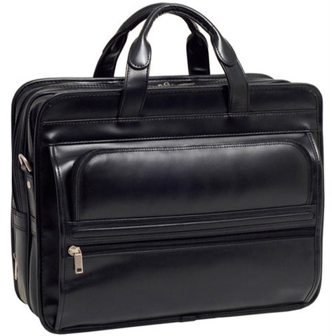 Leather Double Compartment Laptop Bag