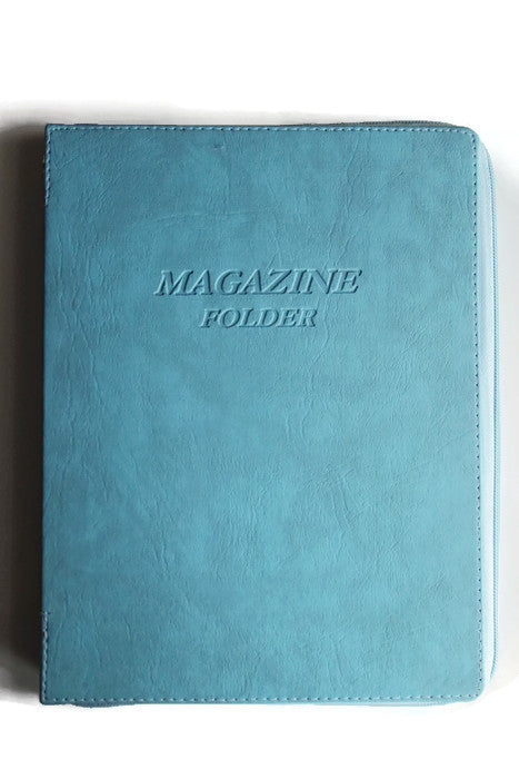 Magazine Folder with Zipper in Light Blue - K. GRANT PUBLISHING Jehovah's witness jw gift products