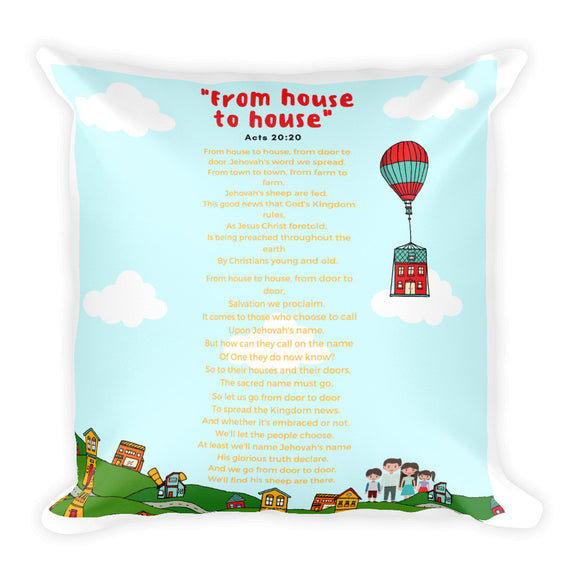Square Pillow - K. GRANT PUBLISHING Jehovah's witness jw gift products