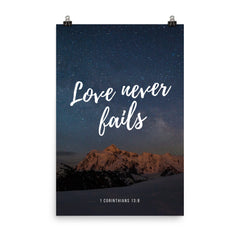 Poster:  Love never fails - K. GRANT PUBLISHING  - 11