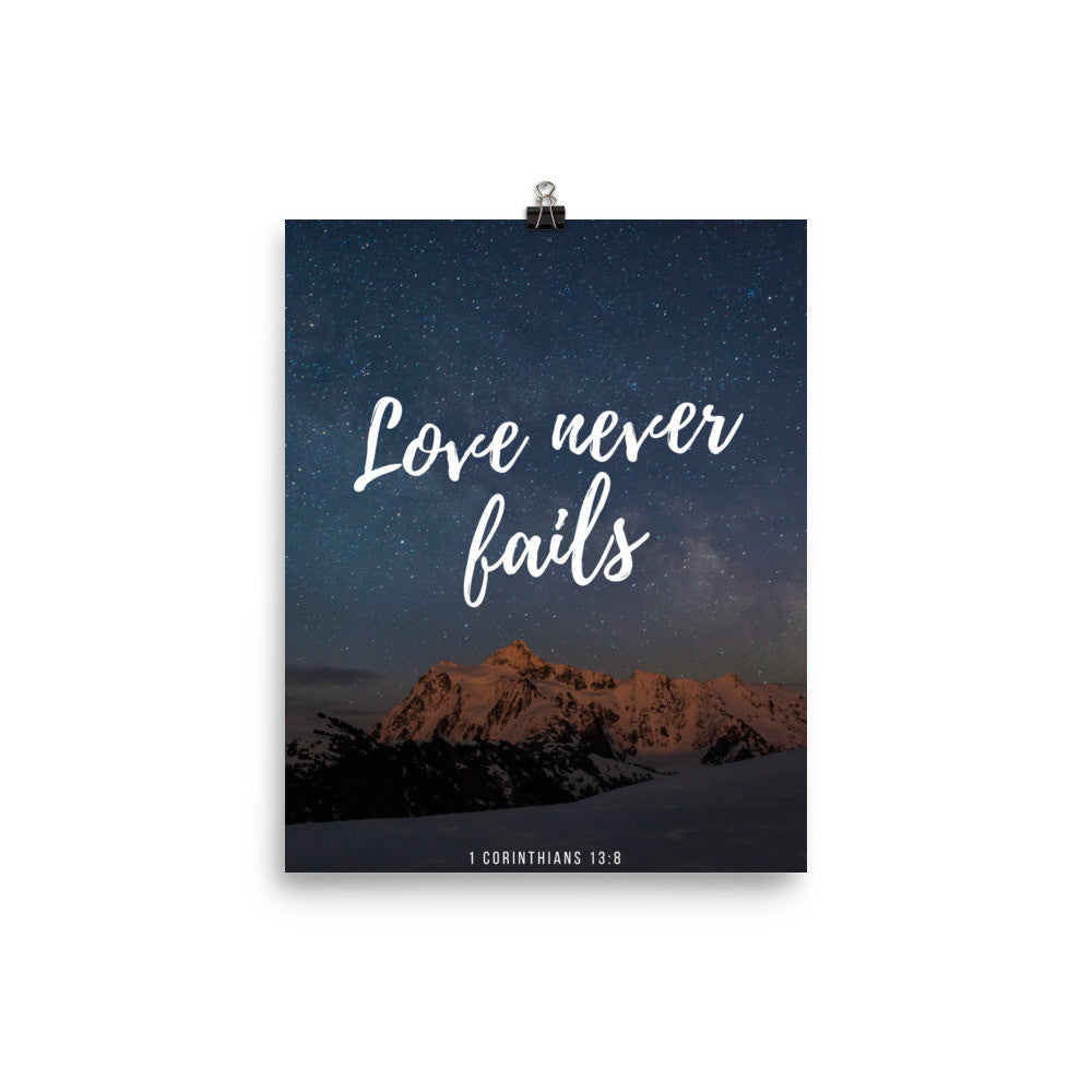 Poster:  Love never fails - K. GRANT PUBLISHING  - 1