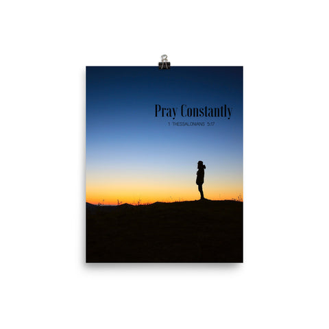 Poster:  Pray Constantly