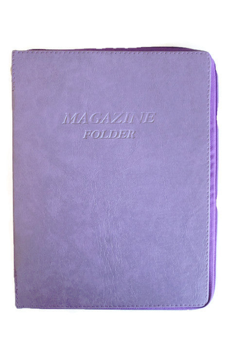 Magazine Folder with zipper in Purple - K. GRANT PUBLISHING Jehovah's witness jw gift products