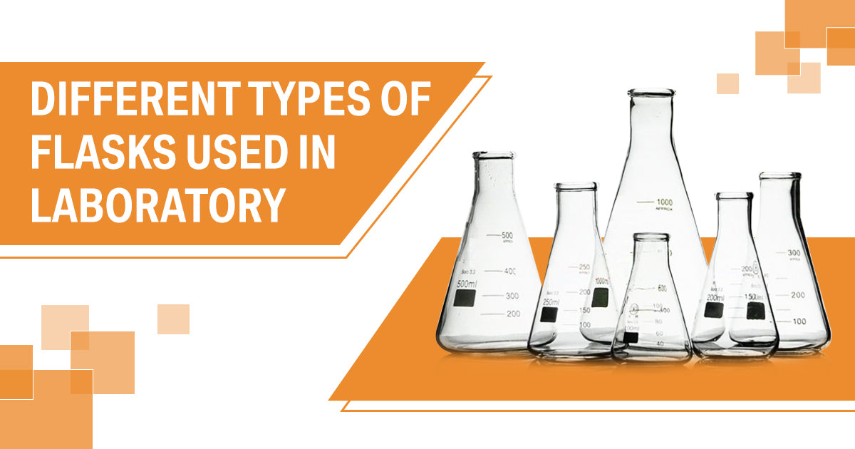 Different types of flasks used in laboratory