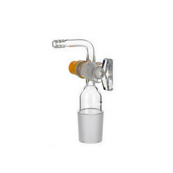 Cone Adapters Bend with Glass Stopcock -  Science Lab Equipment | Science Equip Australia