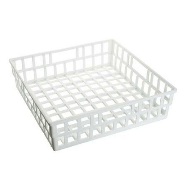 Draining Basket, 400 x 400 x 100mm, Polypropylene -  Science Lab Equipment | Science Equip Australia