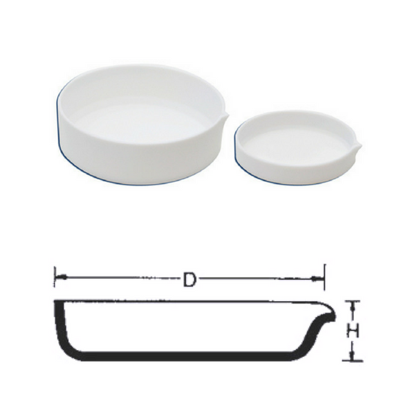 Flat Form Basins with Spout, Fused Silica/Quartz -  Science Lab Equipment | Science Equip Australia
