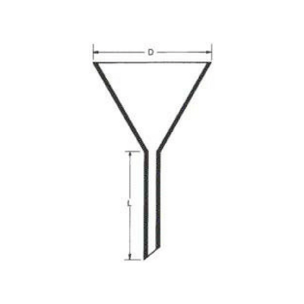 Funnel, Short Stem, Fused Quartz -  Science Lab Equipment | Science Equip Australia