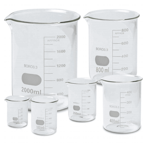 Glass Beakers Kit, Set of 5 Beakers -  Science Lab Equipment | Science Equip Australia