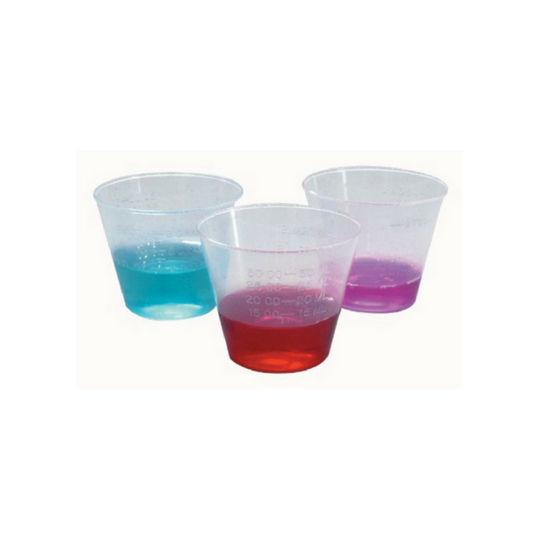 Medicine Cups 25 ml, Polypropylene, 200 Pcs/Pk -  Science Lab Equipment | Science Equip Australia