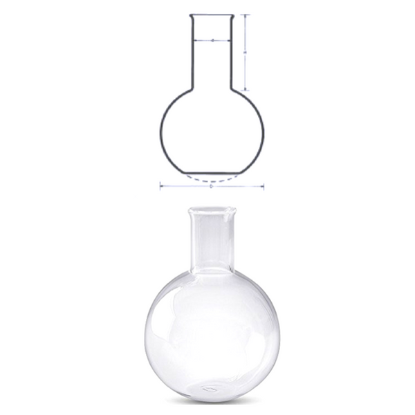 Narrow Neck Flasks, Fused Quartz -  Science Lab Equipment | Science Equip Australia