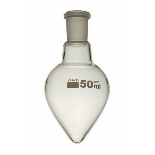 Pear Shaped Flask with Ground Joints, Borosilicate Glass -  Science Lab Equipment | Science Equip Australia
