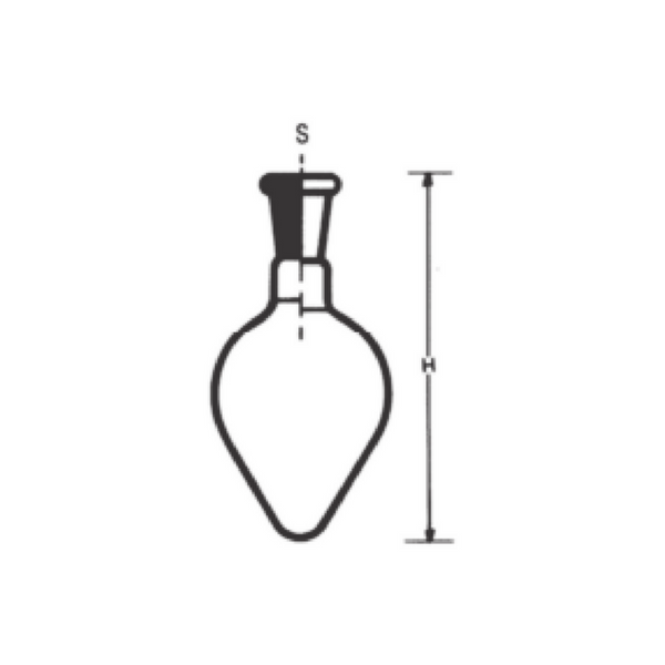 Pear Shaped Flasks with Socket, Fused Quartz -  Science Lab Equipment | Science Equip Australia