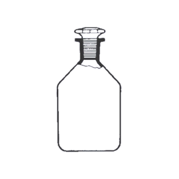 Reagent Bottles with Stopper, Fused Quartz -  Science Lab Equipment | Science Equip Australia
