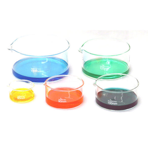 Crystallising Dishes, With Spout, Borosilicate Glass -  Science Lab Equipment | Science Equip Australia