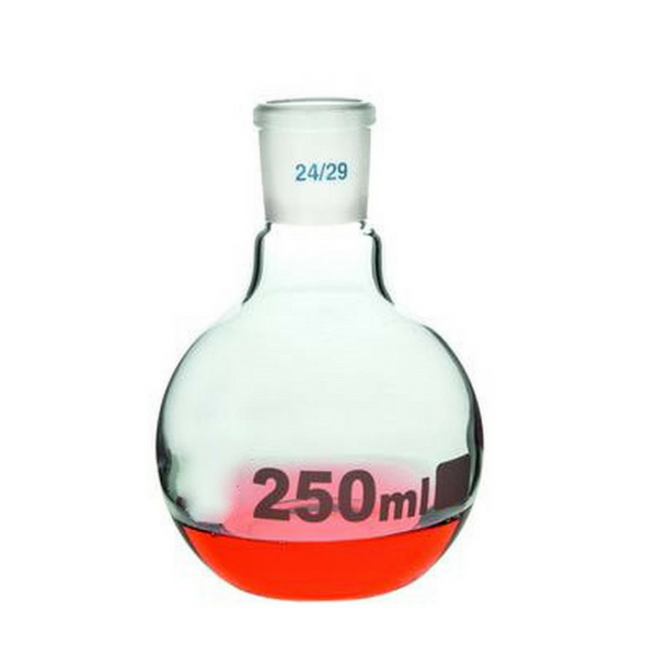 Flat Bottom Flasks Jointed, Single Neck, 24/29, Borosilicate Glass -  Science Lab Equipment | Science Equip Australia