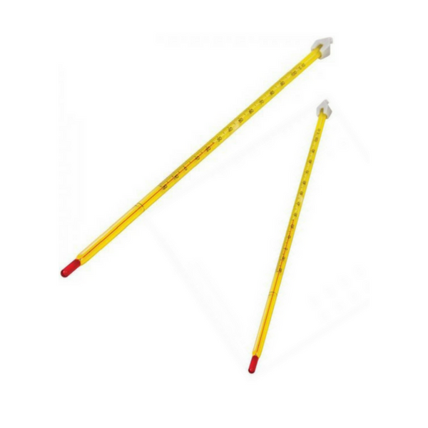 Glass Celsius Thermometer, Yellow Backed, Red Alcohol -  Science Lab Equipment | Science Equip Australia