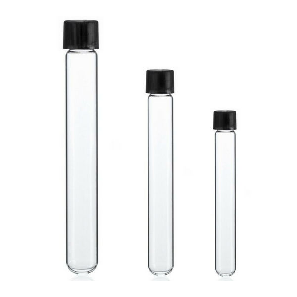 Culture Tubes Round Bottom, Borosilicate Clear Glass -  Science Lab Equipment | Science Equip Australia