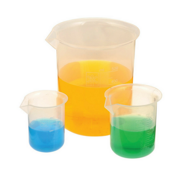Beakers, Low Form, Polypropylene - ScienceEquip