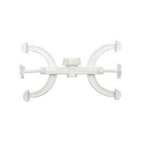 Fisher Double Burette Clamps, Polypropylene - ScienceEquip