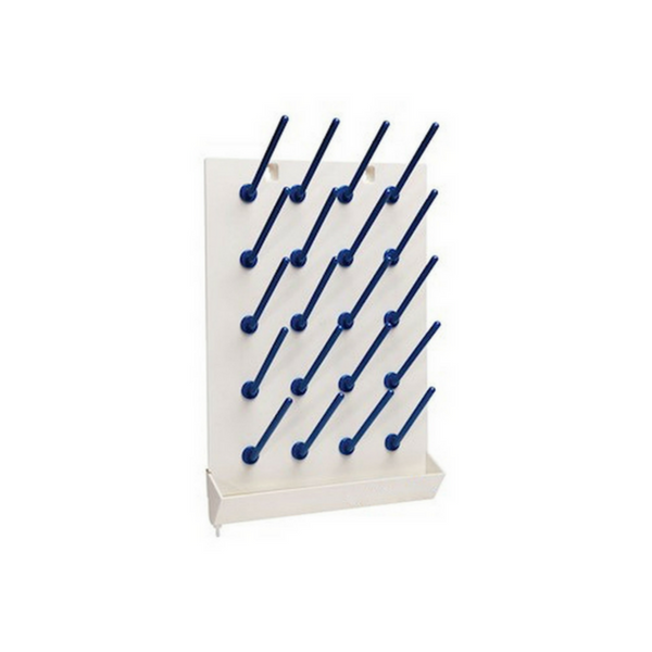 Draining Racks, Wall Mount, Polycarbonate -  Science Lab Equipment | Science Equip Australia