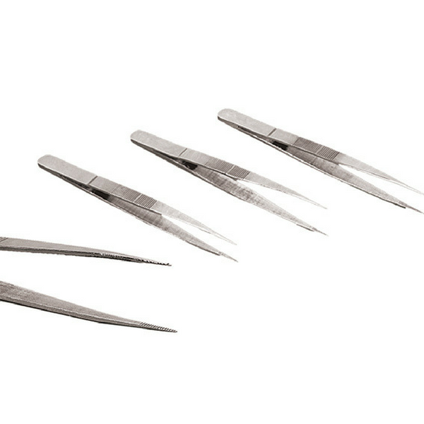 Tweezers/Forceps, Straight Fine Points, 150 mm, SS -  Science Lab Equipment | Science Equip Australia